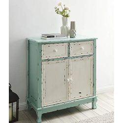 BELLEZE Wood Cabinet with Drawers and Doors Vintage Accent Storage Chest for Entryway, Living Ro ...