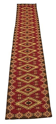 Kinara Red River Southwestern Design Jacquard Table Runner 13×72 inches