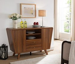 Smart home 151378 Light Walnut Sideboard Buffet Table