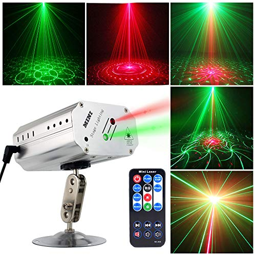 Sound activated Party Lights Disco Dj Stage Light Projector Metal Silver shell GOOLIGHT Strobe L ...