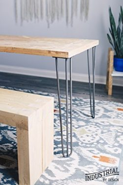 Industrial By Design – 28″ Hairpin Legs (Raw Steel, Three-Rod) – Industrial St ...
