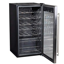 Smad 28 Bottles Freestanding Wine Cellar Compressor Wine Fridge with Digital Temperature Display ...