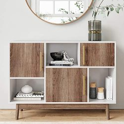 Nathan James 75501 Ellipse Modern Multipurpose Display Storage Unit Entryway Furniture, White
