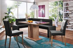 German Furniture Warehouse 4 Piece Modern Dining Set, Breakfast Nook Asti, Made in Europe
