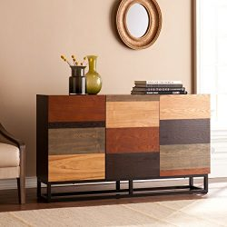 Southern Enterprises Harrison Console Credenza, Multi Tonal Finish with Black Body