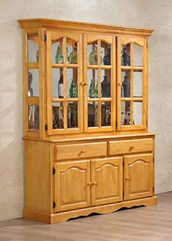 Sunset Trading DLU-22-BH-LO Oak Selections Buffet and Hutch Light Finish