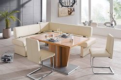 4 Piece Modern Dining Set, Queens 151/1 Home and Kitchen Furniture Breakfast Nook, Great Dining  ...