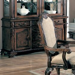 Coaster 100134B-CO Deep Brown Finish Saint Charles Buffet/Hutch