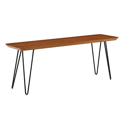 WE Furniture AZB56HPDWT Dining Bench 13″ L x 48″ W x 18″ H Walnut
