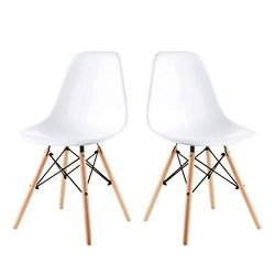 Alovhad Dining Chairs Set of 2 Modern Kitchen Furniture Side White Chairs Mid Century Dinning Ro ...