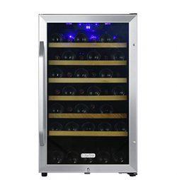 EdgeStar CWF440SZ 20 Inch Wide 44 Bottle Capacity Free Standing Wine Cooler with Reversible Door ...