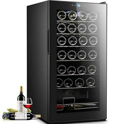 Sentern 28 Bottle Wine Cooler – Quiet Counter Top Wine Chiller, Freestanding Wine Refriger ...