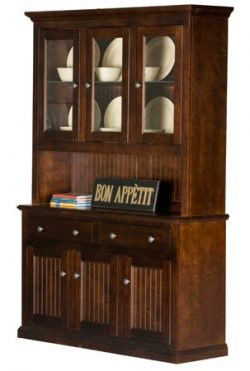 Eagle Furniture Manufacturing Coastal Dining Buffet & Hutch, 54″, Chocolate Mousse