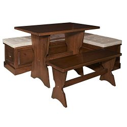 Riverbay Furniture Breakfast Nook Set in Walnut