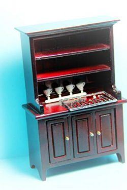 Dollhouse Kitchen Dining Room Hutch Accessories in Mahogany KL2326 – Miniature Scene Suppl ...