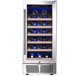 "Wine Cooler, Built-in Wine Cooler, AMZCHEF 15"" Wine Refrigerator, 31 Bottle, Freestanding, ..."