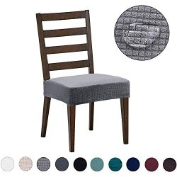 Dining Chair Covers(4 Pack) – Water Repellent,Easy to Install,High Stretch – Dining  ...
