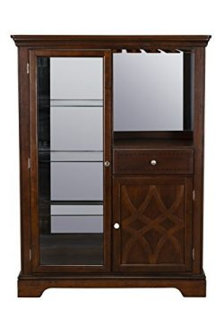 Standard Furniture 19182 Woodmont Display Server Cabinet, Brown Cherry