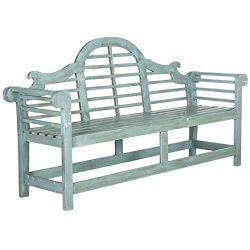Safavieh Outdoor Collection Khara Bench, Beach House Blue