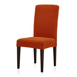 Subrtex Jacquard Dining Room Chair Slipcovers Sets, Stretch Chair Furniture Protector Covers, Re ...