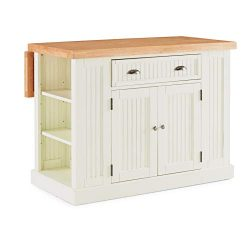 "Home Styles 5022-94N Nantucket Kitchen Island W-48"", D-26 ½"", H-36"" Distressed White/Natural"