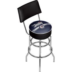 Trademark Gameroom NHL Winnipeg Jets Swivel Bar Stool with Back