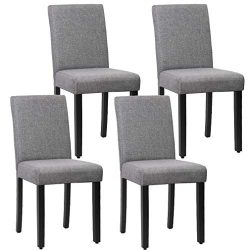 FDW Dining Chairs Dining Room Chairs Parsons Chair Kitchen Chairs Set of 4 for Home Kitchen Livi ...
