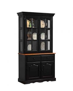 Sunset Trading DLU-19-BH-BCH Black Cherry Selections Buffet and Hutch Two Door | Two Drawers Dis ...