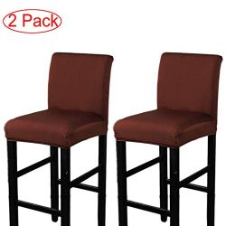 LJNGG 2 Pack Chair Cover Slipcover Counter Stool Covers Dining Room Kitchen Bar Stool Cafe Furni ...