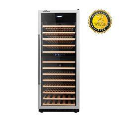 "Thor Kitchen 24"" 133 Bottles Wine Cooler Refrigerator 13.42cu.ft Free Standing Wine Cellar ..."