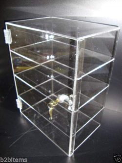 305 Displays Acrylic Countertop Display Case 12″ x 6″ x 16″ Locking Security S ...