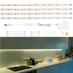 LED Under Cabinet Lighting, Under Counter Light Bar, LED Strip Lights for Kitchen, Desk, Showcas ...