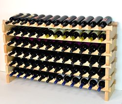 Modular Wine Rack Beachwood 48-144 Bottle Capacity 12 Bottles Across up to 12 Rows Newest Improv ...
