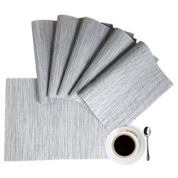 HQSILK Placemats, Table Mats,Placemat Set of 8 Non-Slip Washable Place Mats,Heat Resistant Kitch ...