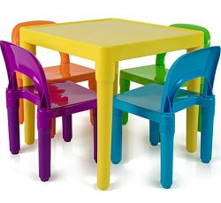 Kids Table and Chairs Set – Toddler Activity Chair Best for Toddlers Lego, Reading, Train, ...