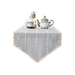 Tong Yue Thicken Cotton and Linen Stripe Table Runner TV Cabinet Sideboard Nightstand Cover Towe ...