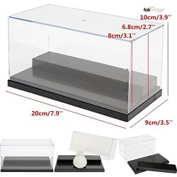 Acrylic Display case 7.9 x 3.9 x 3.5 inches For Action Figures Toy Vinylmation lot any minifigur ...
