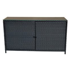 "59""x 18″x 33.5"" Wicker Serving Table Buffet Counter Pool Towel Organizer Cabin ..."