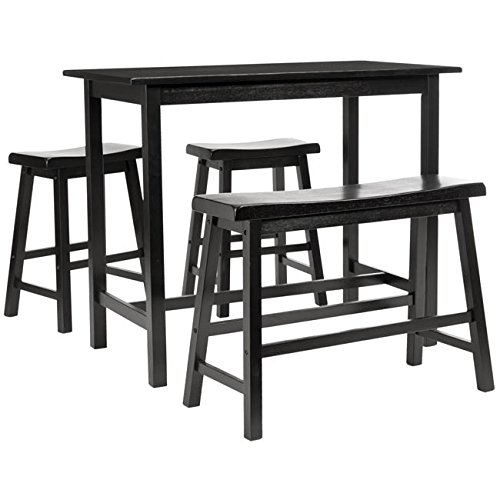Safavieh American Homes Collection Galway Dark Espresso Oak 4-Piece Pub Set