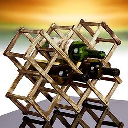 Fheaven (TM) wine rack – 3/6/10 Bottle Red Wine Holder Wooden Rack Mount Holder Kitchen De ...