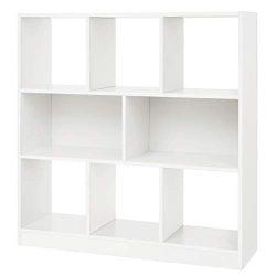 VASAGLE Wooden Bookcase Open Cubes Shelves, Free Standing Bookshelf Storage Unit Display Cabinet ...