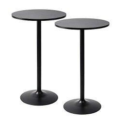 Pearington PEAR-0098 Santina 2 Pack Round Bar and Pub Table Black