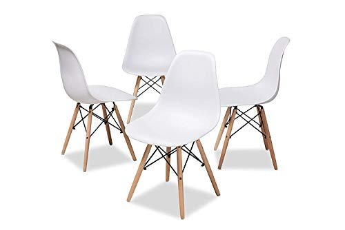 Nicemoods Mid Century Modern Style Dining Chairs,Pre Assembled Indoor Chair Armless Classic Eame ...