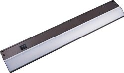GE 36 Inch LED Premium Under Cabinet Light Fixture, Bronze Finish, Direct Wire, Warm White 3000K ...