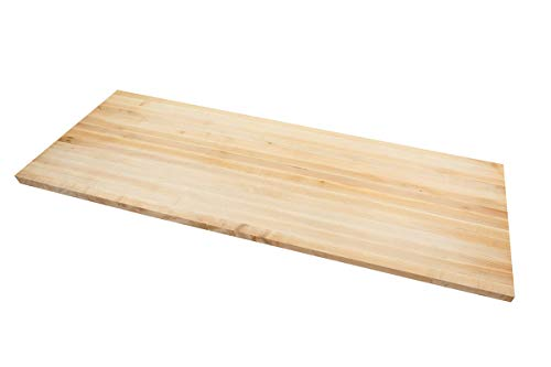 Big Bison Maple Butcher Block and Countertop – 60 x 30 x 1.5 Inches, Extra Large Wood Isla ...