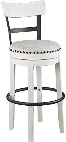 Ashley Furniture Signature Design – Valebeck Tall Upholstered Swivel Barstool – Casu ...