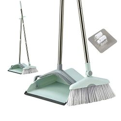 Dustpan Broom Set Broom Dustpan Long Handle Broom Combo with Long Handle For Home Kitchen Room O ...