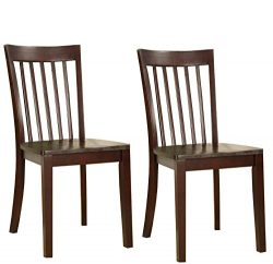 Kings Brand Furniture – Set of 2 Heavy Duty Solid Wood Room – Kitchen Side Chairs (C ...