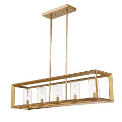 Emliviar 5-Light Dining Room Lighting Fixtures, Vintage Pendant Light for Kitchen Island, Antiqu ...