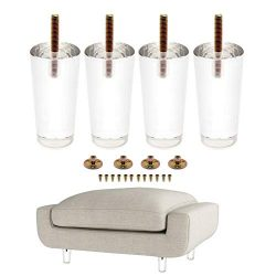 4PCS 4Inch/100mm Sofa Legs Clear Furniture Feet Acrylic Bench Legs Modern Cabinet Cupboard Coffe ...